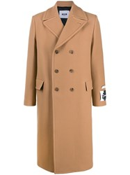 Msgm Double Breasted Sleeve Patch Coat 60