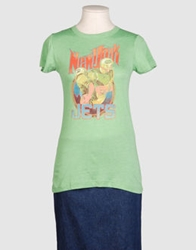 Junk Food Short Sleeve T Shirts Green