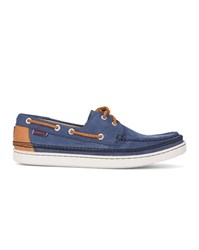 Sebago Navy Nubuck Boat Shoes Blue