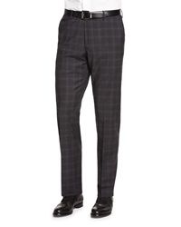 Incotex Super 150S Plaid Trousers Gray