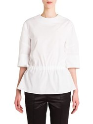 Jil Sander Short Sleeve Blouse White