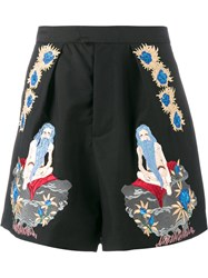 Edward Crutchley Embroidered Shorts Black