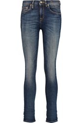 R 13 R13 Alison Cropped Mid Rise Skinny Jeans Mid Denim