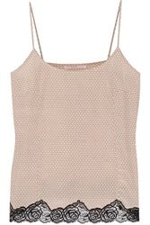 Stella Mccartney Ellie Leaping Printed Stretch Silk Camisole Nude