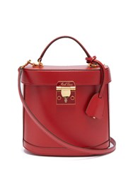 Mark Cross Benchley Saffiano Leather Shoulder Bag Red