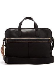 Paul Smith Canvas And Leather Briefcase Black