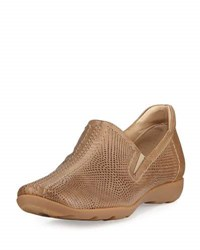 Sesto Meucci Gabys Perforated Leather Slip On Taupe