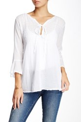 Luma Peasant Blouse White