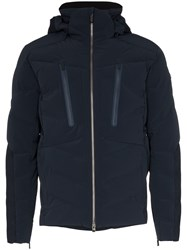 Kjus Linard Hooded Feather Down Jacket Blue