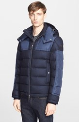 Men's Moncler 'Severac' Mixed Media Quilted Puffer