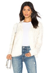1.State Zip Front Jacket Ivory