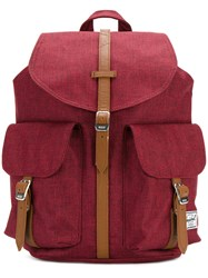 Herschel Supply Co. Multi Pockets Strappy Backpack Unisex Polyester Polyurethane One Size Red