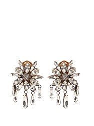 Shourouk Crystal Embellished Clip On Earrings