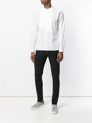 Dnl Pleated Front Shirt White