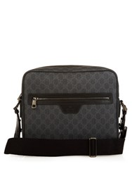 Gucci Gg Coated Canvas Messenger Bag Black Multi