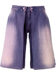 Walter Van Beirendonck Vintage Layered Denim Shorts Pink And Purple