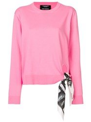 Calvin Klein 205W39nyc Tie Detail Top Pink And Purple
