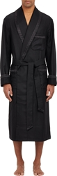 Barneys New York Quilt Trim Luxe Robe Black