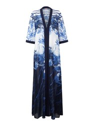 Ted Baker Persian Long Draped Cover Up Blue