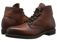 Frye Prison Boot Cognac Oiled Vintage Men's Lace Up Boots Brown
