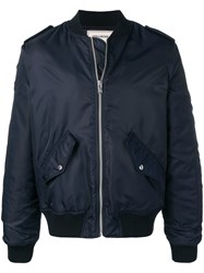 Zadig And Voltaire Logo Bomber Jacket Blue