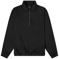 Save Khaki Supima Quarter Zip Sweat Black