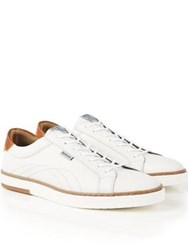 Barbour Howdon Leather Trainers White