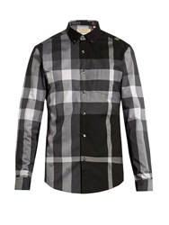 Burberry House Check Cotton Blend Shirt Black Multi