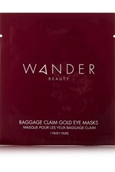 Wander Beauty Baggage Claim Gold Eye Masks X 6 Colorless