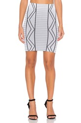 Bcbgeneration Geometric Mini Skirt White