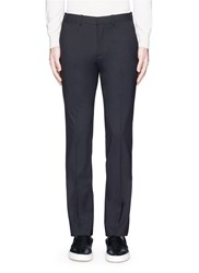 Theory 'Marlo' Straight Leg Stretch Wool Pants Black