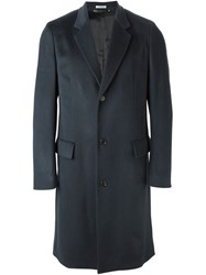 Paul Smith Classic Button Down Coat Blue