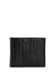 Gucci Gg Rhombus Leather Billfold Wallet Black