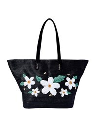 Betsey Johnson Daisy'd And Confused Tote Black