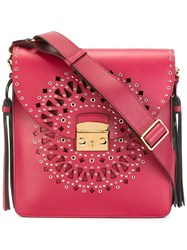 Furla Cut Off Detailing Crossbody Bag Red