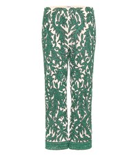 Ganni Colby Sequinned Trousers Green