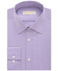 Michael Kors Classic Fit Non Iron Houndstooth Dress Shirt Tiger Lily