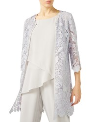 Jacques Vert Floral Lace Shacket Mid Grey