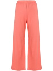 Aspesi Elasticated Waist Trousers Pink And Purple
