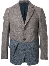 Wooster Lardini Flap Pockets Knit Blazer Grey