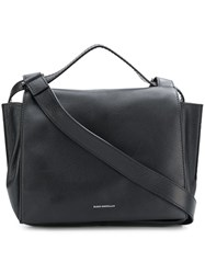 Elena Ghisellini Fold Over Top Tote Black