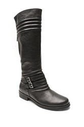 Two Lips Too Jellied Ribbed Boot Black