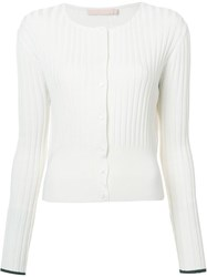 Brock Collection Ribbed Cardigan White