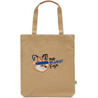 Maison Kitsune Tan Ader Error Edition Fox Head Tote