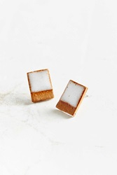 Urban Renewal Maple Mauve Rectangle Earring Natural