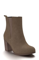 Shoes Of Prey Women's Block Heel Chelsea Boot Brown Suede