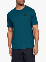 Under Armour Sportstyle Chest Logo Training Top Teal Vibe