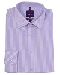 Double Two Men's Slim Fit Formal Shirt Lilac