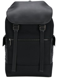 Bottega Veneta Multi Functional Interwoven Backpack Black
