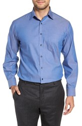 Nordstrom Big And Tall Shop Classic Fit Non Iron Solid Dress Shirt Blue Denim